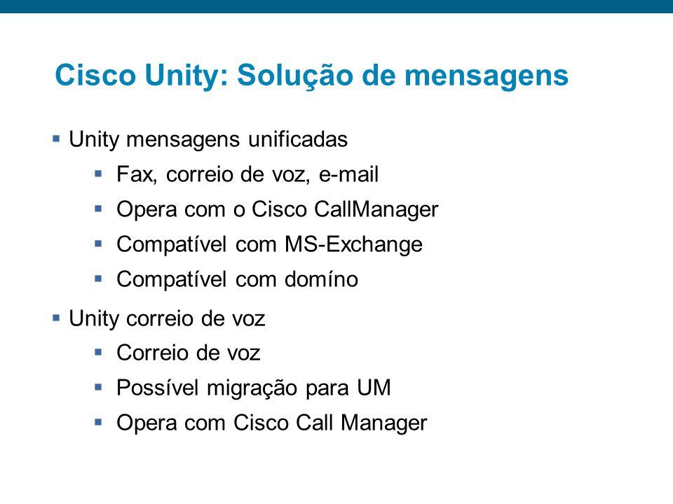 Cisco Unity: Solução de mensagens
