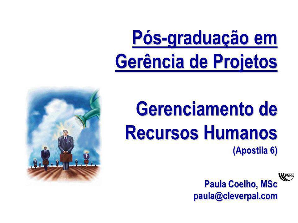 Pós-gradução em Gerência de Projetos Gerenciamento de RH 1