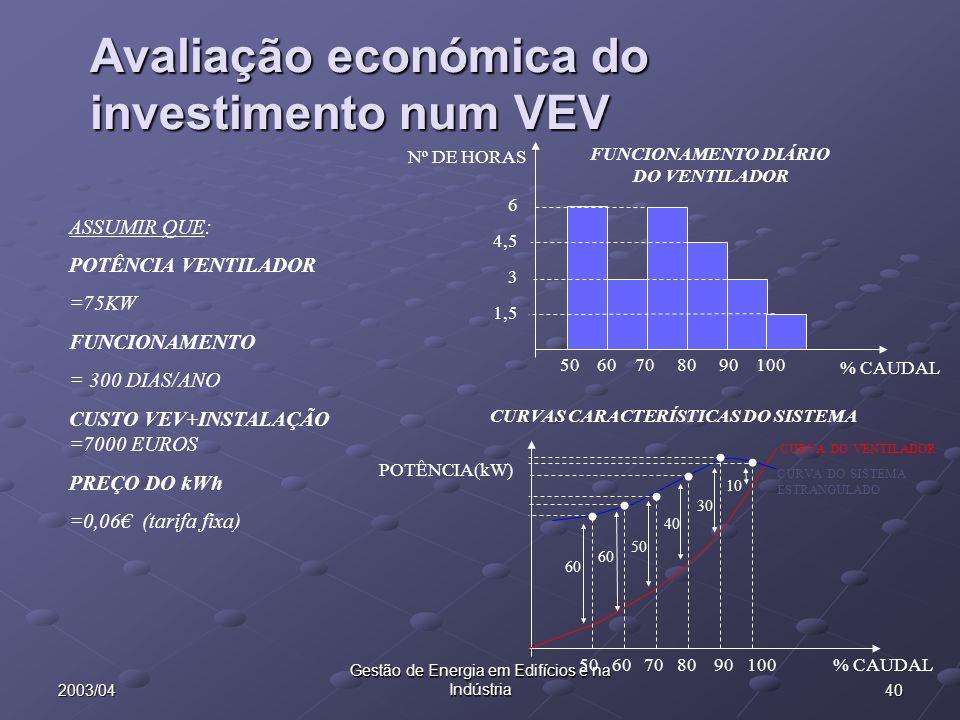 Avaliação económica do investimento num VEV
