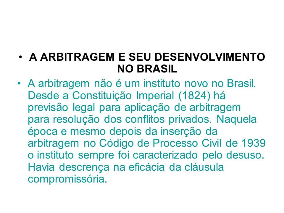 A ARBITRAGEM E SEU DESENVOLVIMENTO NO BRASIL