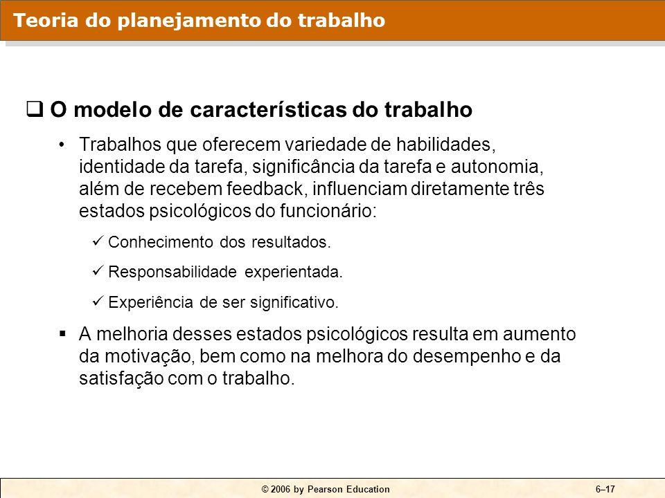 QUADRO 6-6 O modelo de características do trabalho