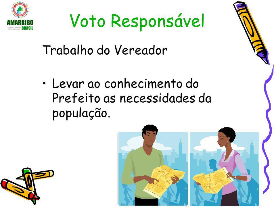 Voto Responsável Trabalho do Vereador