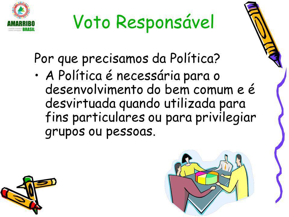 Voto Responsável Por que precisamos da Política