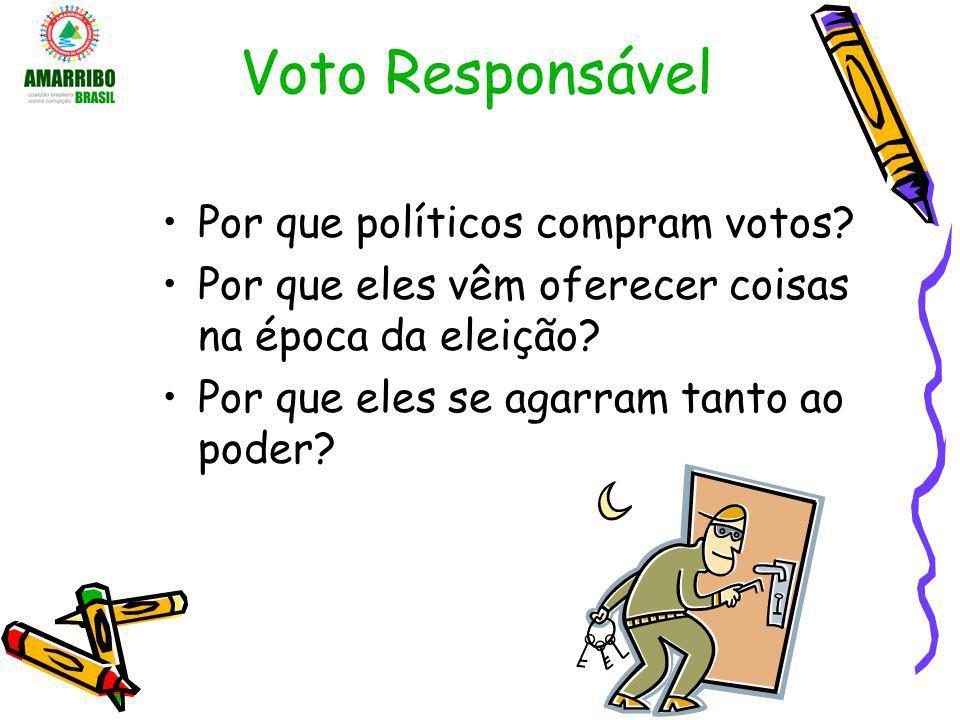 Voto Responsável Por que políticos compram votos