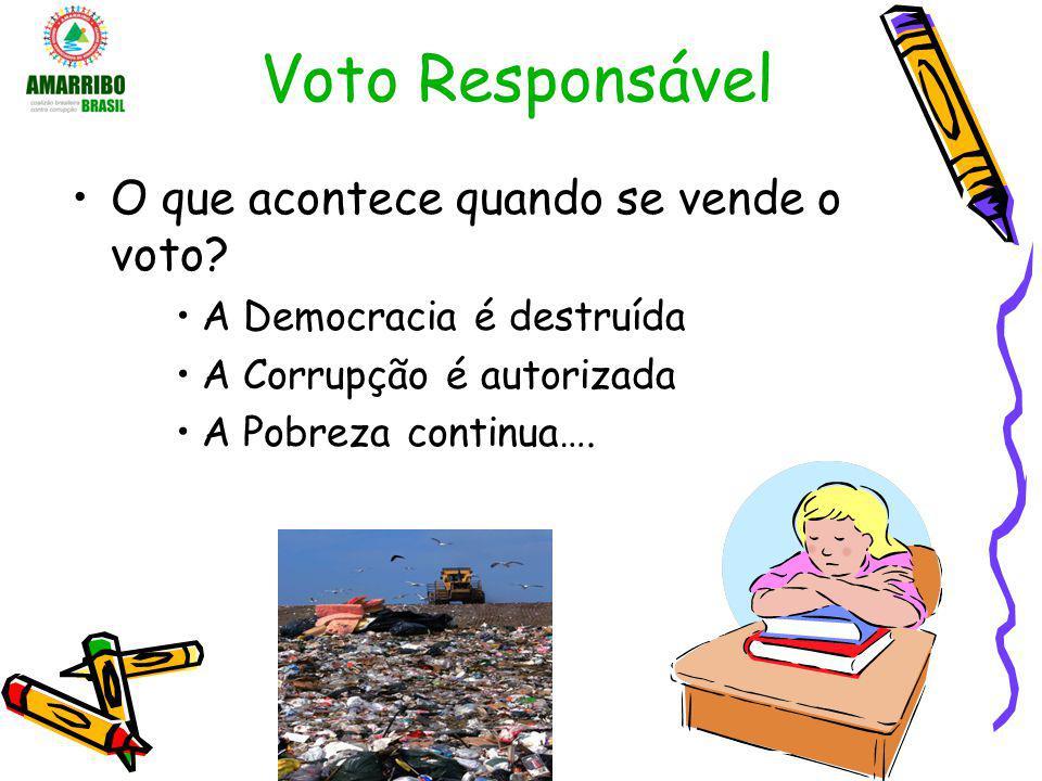 Voto Responsável O que acontece quando se vende o voto