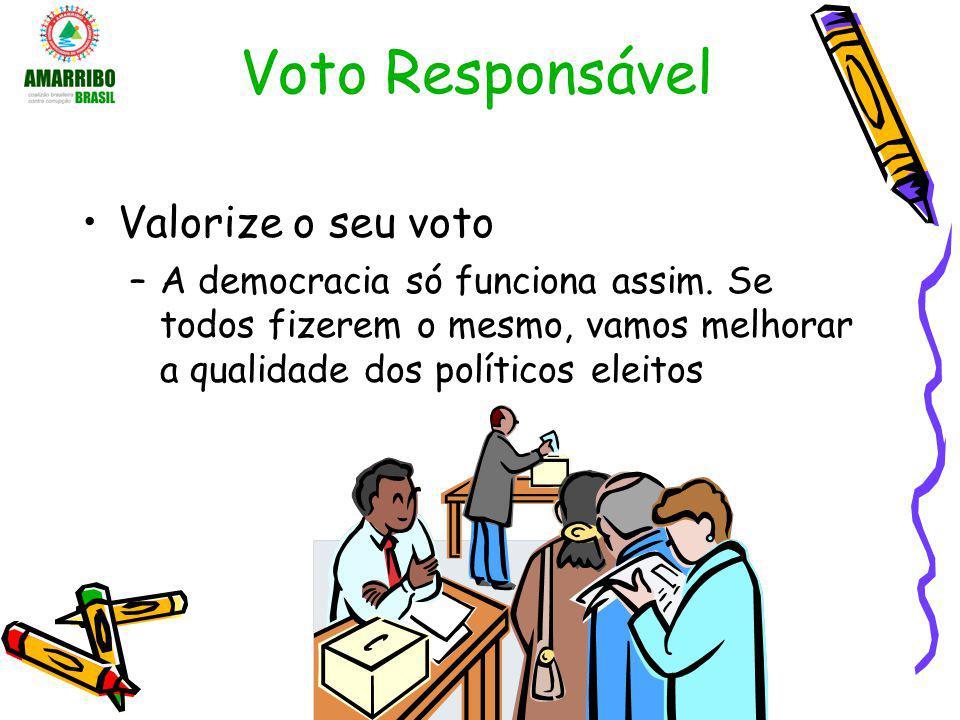 Voto Responsável Valorize o seu voto