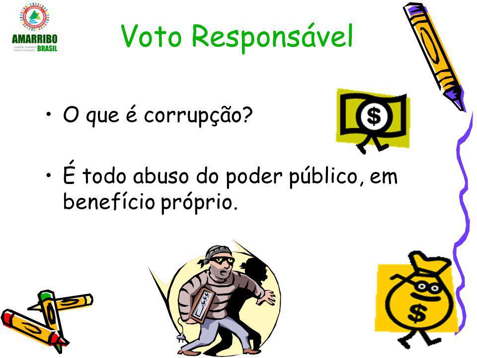 Voto Responsável O que é corrupção
