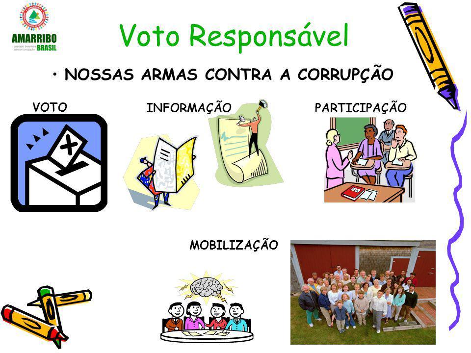Voto Responsável NOSSAS ARMAS CONTRA A CORRUPÇÃO VOTO INFORMAÇÃO