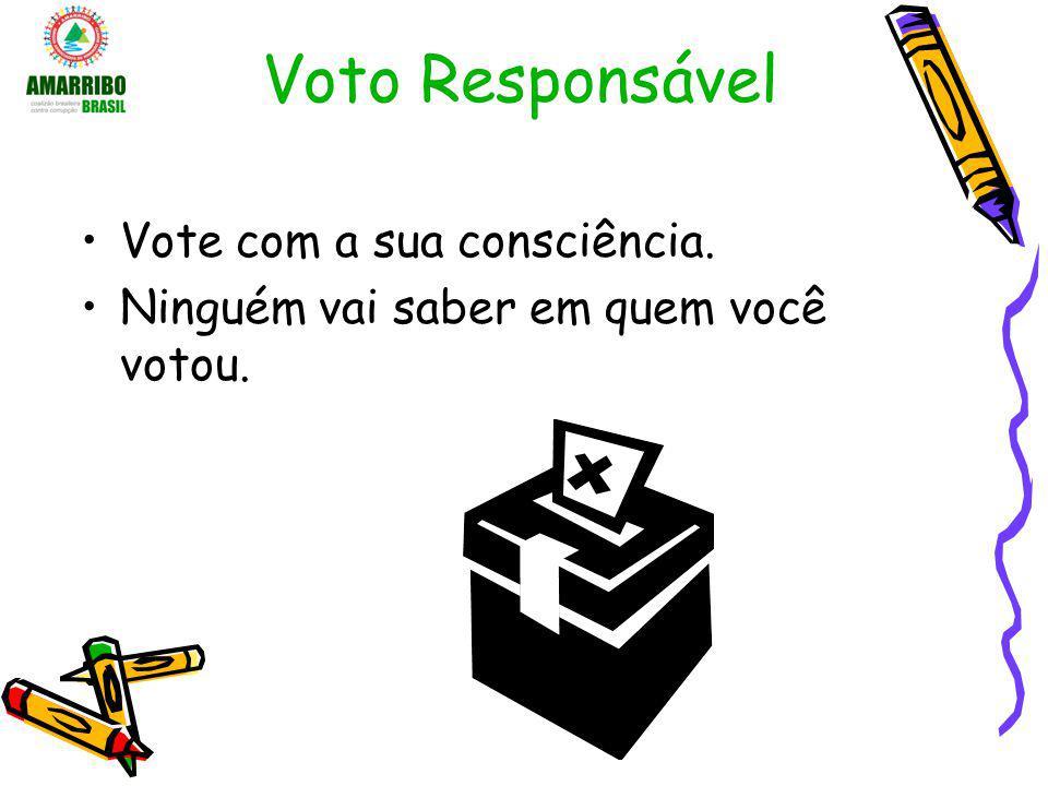 Voto Responsável Vote com a sua consciência.