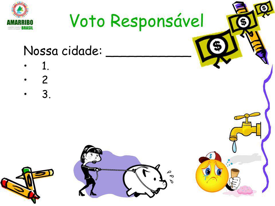 Voto Responsável Nossa cidade: ___________ 1. 2 3.