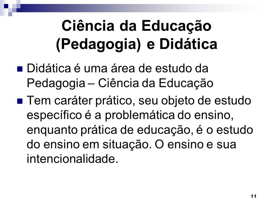 Ciência da Educação (Pedagogia) e Didática