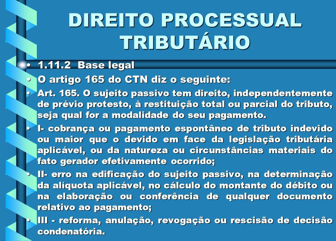DIREITO PROCESSUAL TRIBUTÁRIO