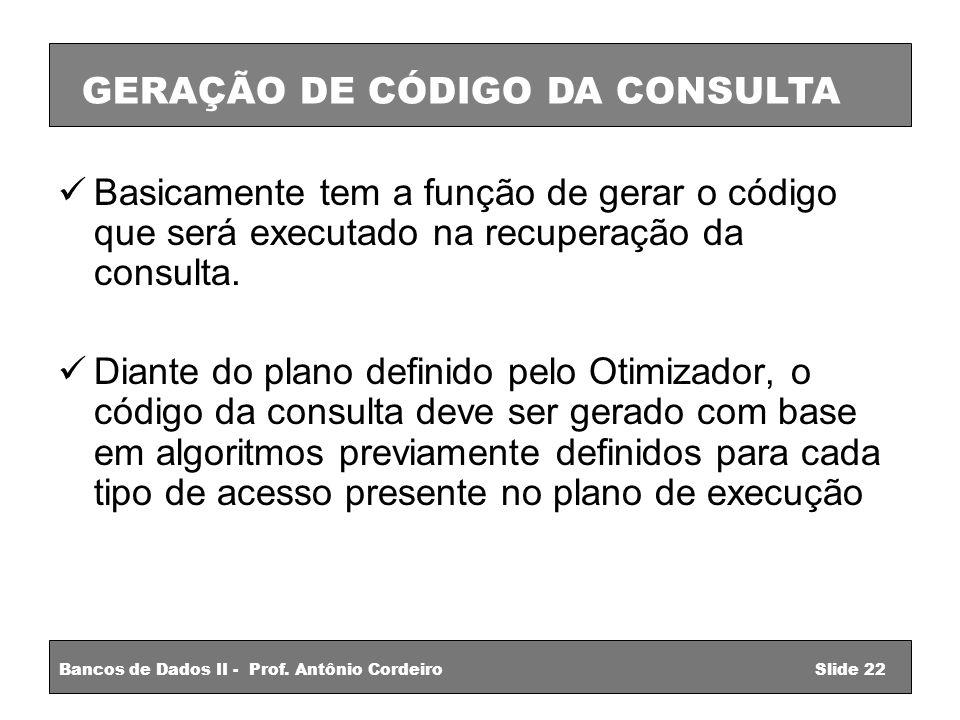 GERAÇÃO DE CÓDIGO DA CONSULTA
