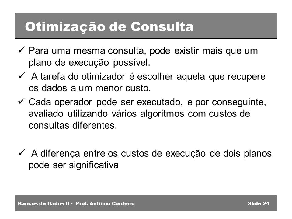 Otimização de Consulta