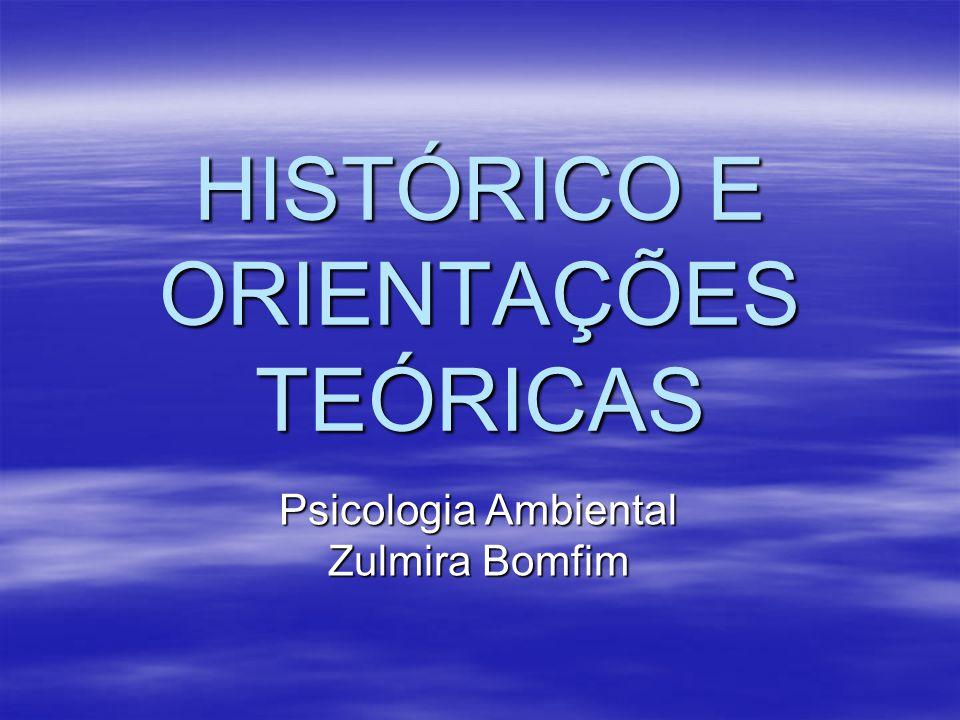 HISTÓRICO E ORIENTAÇÕES TEÓRICAS