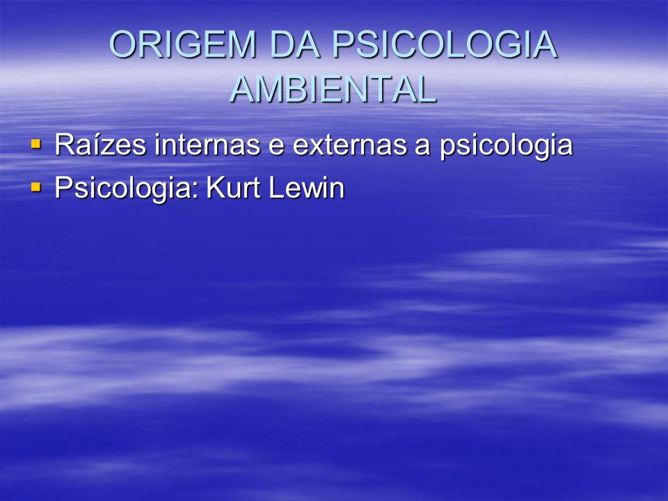 ORIGEM DA PSICOLOGIA AMBIENTAL