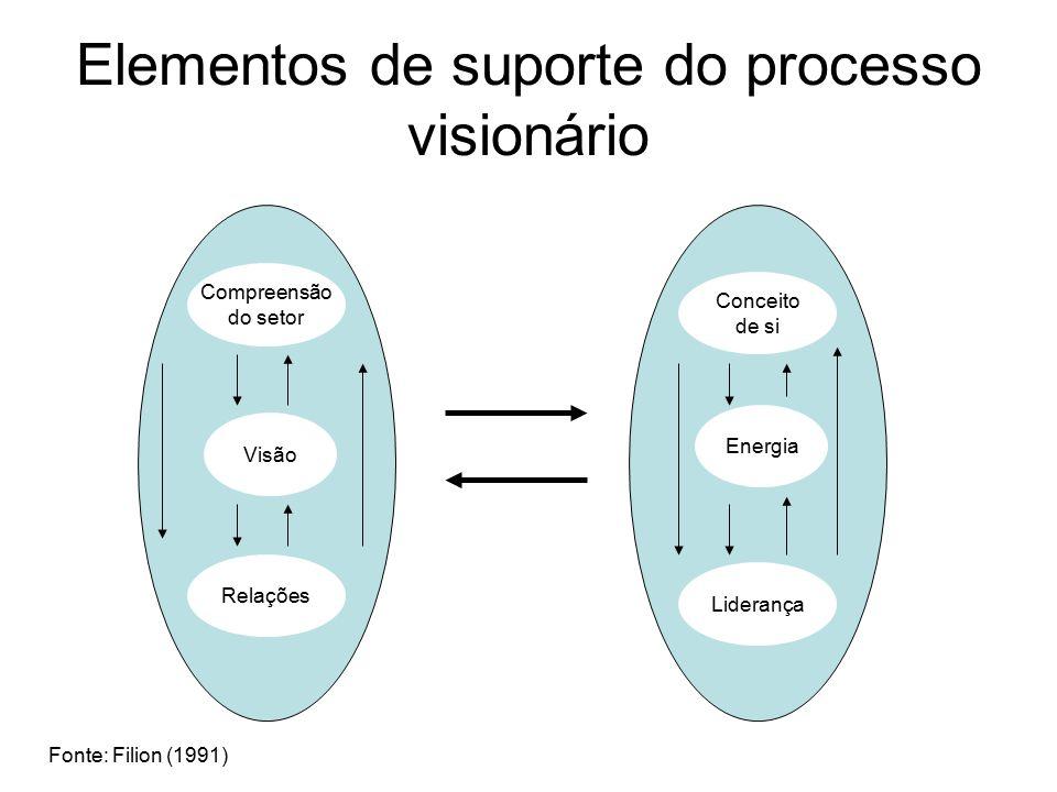 Elementos de suporte do processo visionário