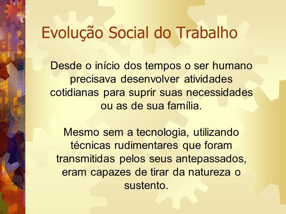 Evolução Social do Trabalho