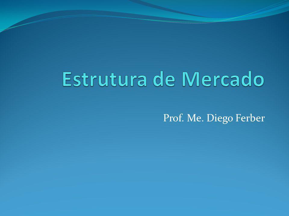 Estrutura de Mercado Prof. Me. Diego Ferber