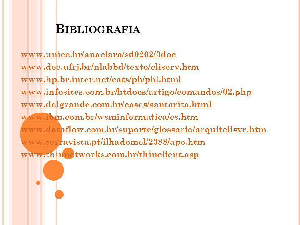 Bibliografia www.unice.br/anaclara/sd0202/3doc