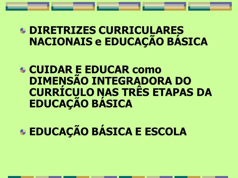 DIRETRIZES CURRICULARES NACIONAIS e EDUCAÇÃO BÁSICA