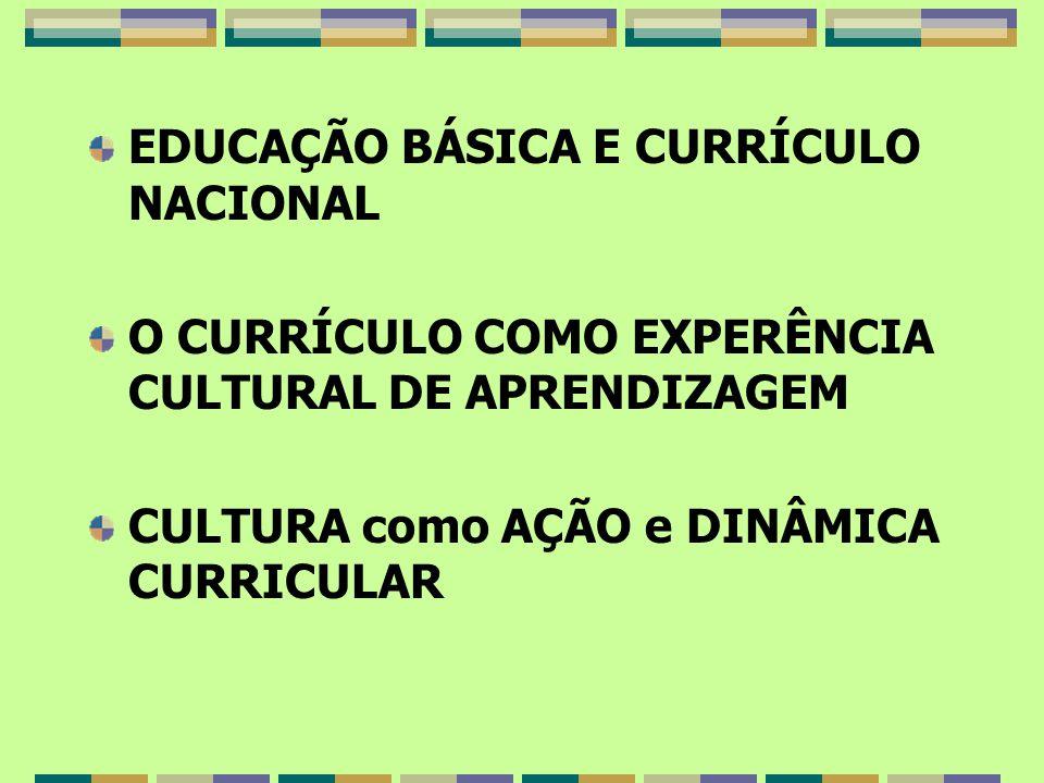EDUCAÇÃO BÁSICA E CURRÍCULO NACIONAL