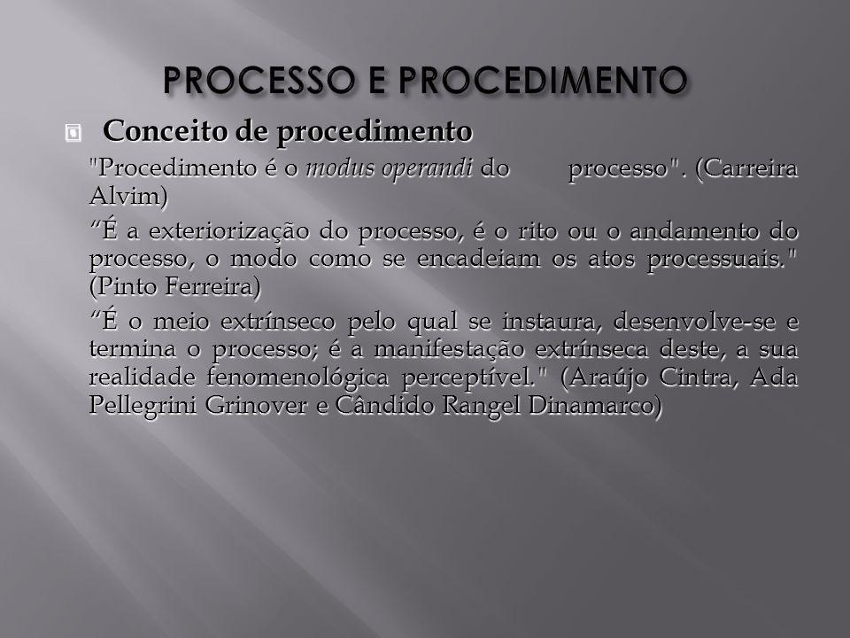 PROCESSO E PROCEDIMENTO