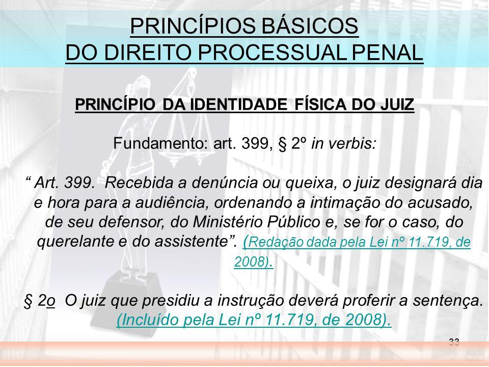 PRINCÍPIO DA IDENTIDADE FÍSICA DO JUIZ