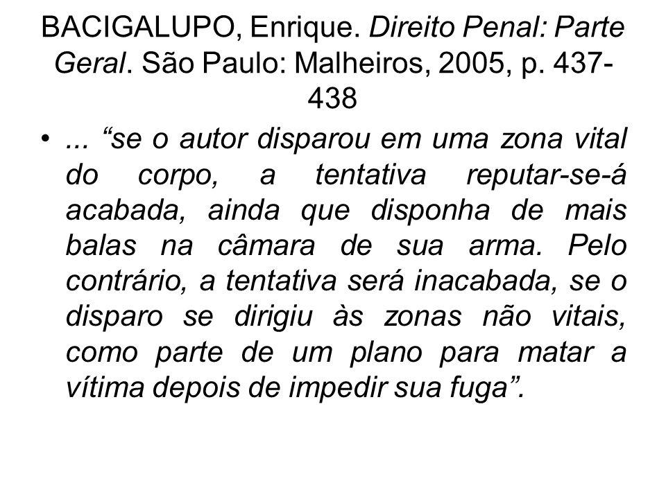 BACIGALUPO, Enrique. Direito Penal: Parte Geral
