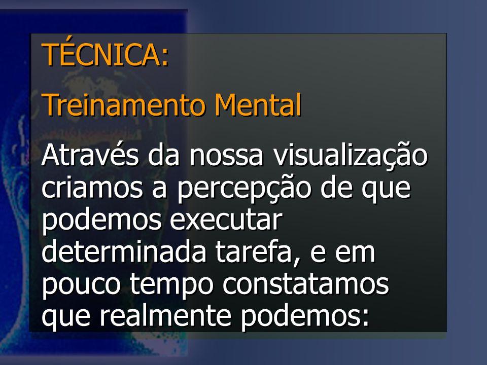 TÉCNICA: Treinamento Mental.