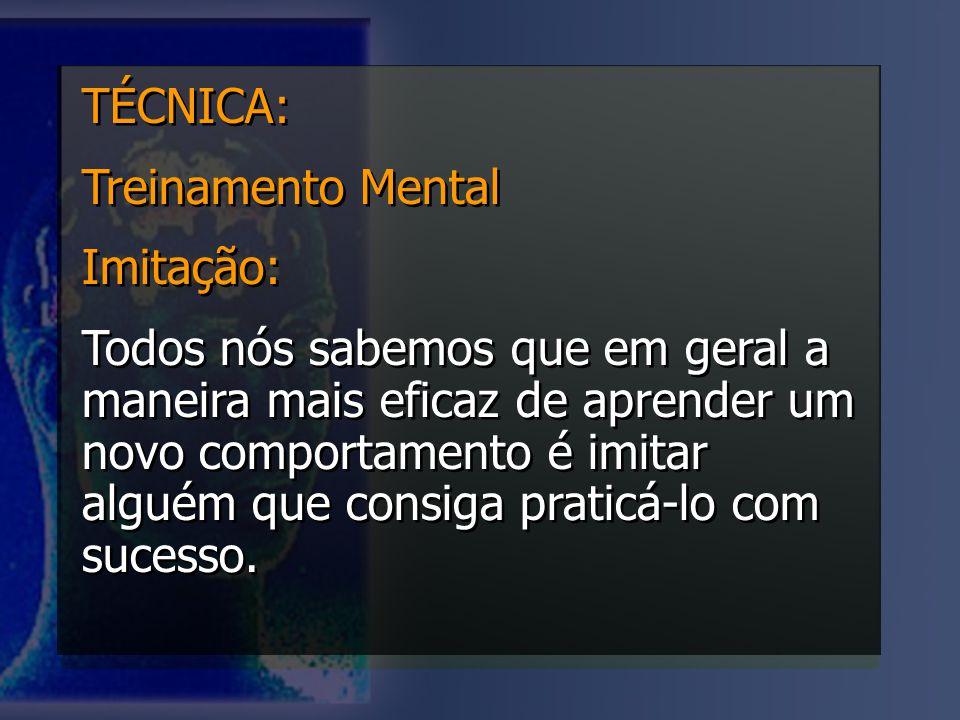 TÉCNICA: Treinamento Mental. Imitação: