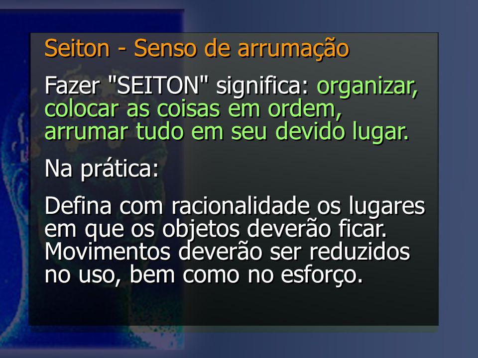 Seiton - Senso de arrumação