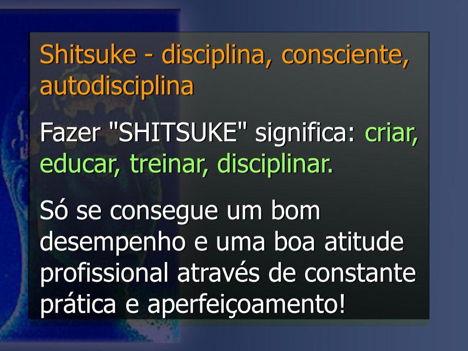 Shitsuke - disciplina, consciente, autodisciplina