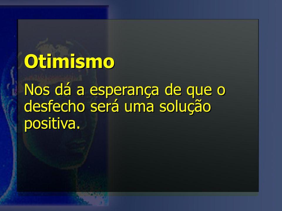 Otimismo Nos dá a esperança de que o desfecho será uma solução positiva.