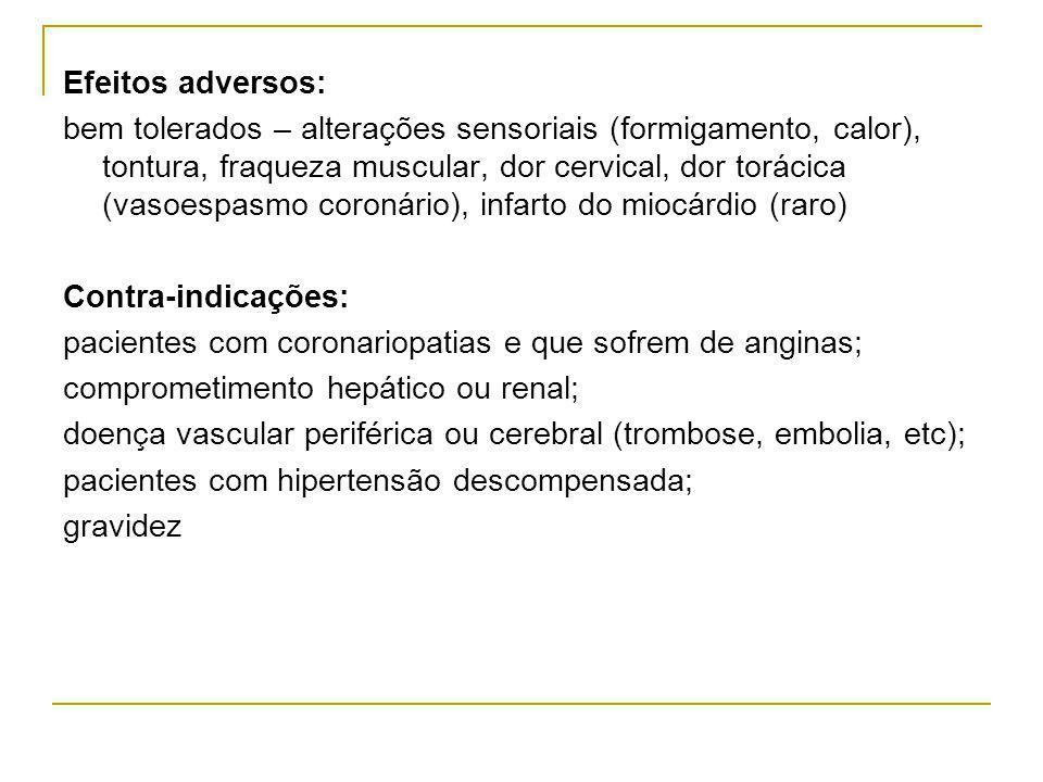 Efeitos adversos:
