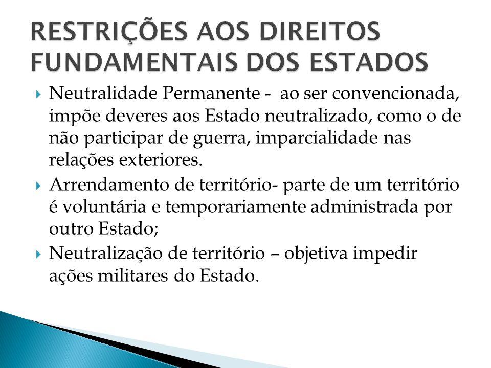 RESTRIÇÕES AOS DIREITOS FUNDAMENTAIS DOS ESTADOS