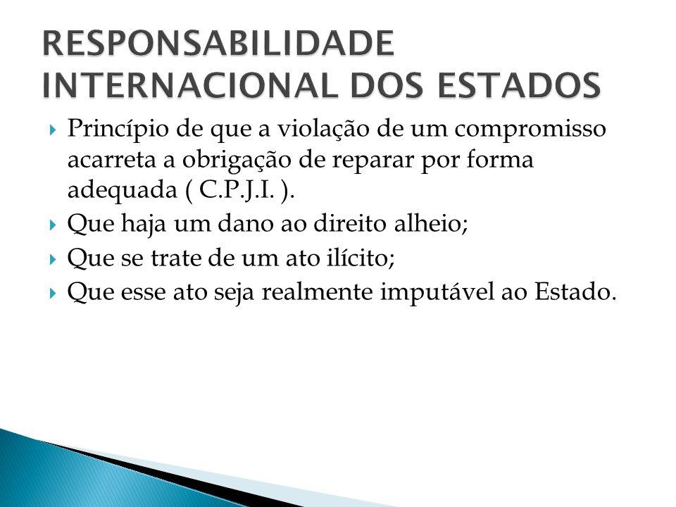 RESPONSABILIDADE INTERNACIONAL DOS ESTADOS
