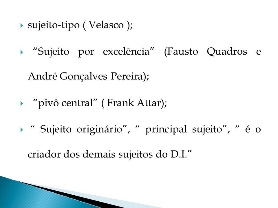sujeito-tipo ( Velasco );