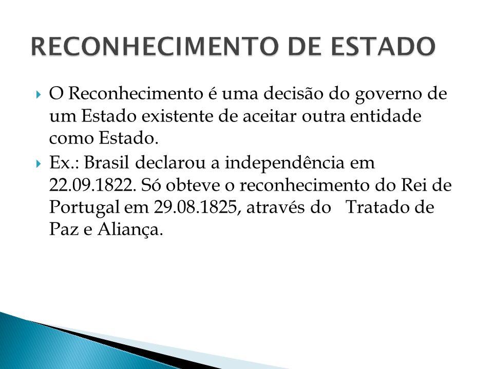 RECONHECIMENTO DE ESTADO