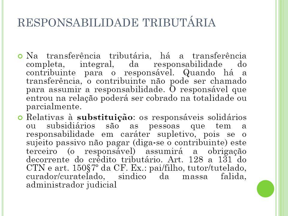 RESPONSABILIDADE TRIBUTÁRIA