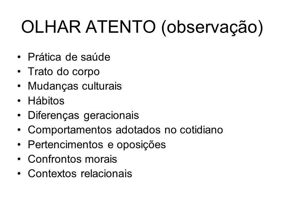 OLHAR ATENTO (observação)
