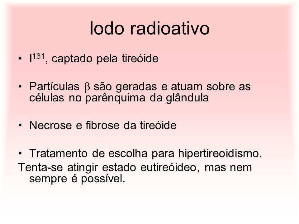 Iodo radioativo I131, captado pela tireóide
