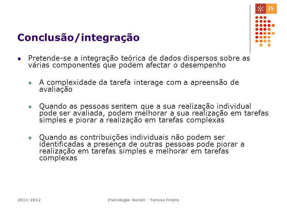 Conclusão/integração