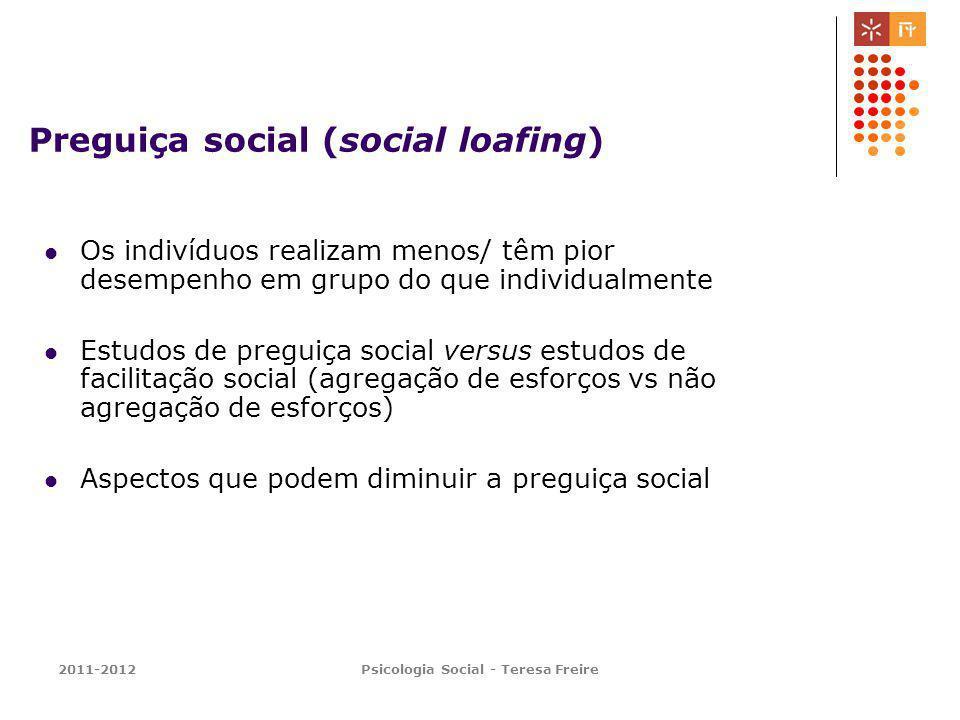 Preguiça social (social loafing)