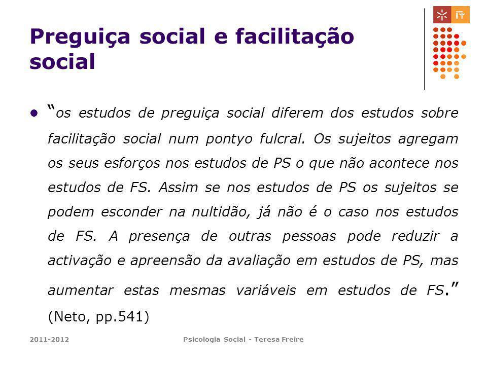 Preguiça social e facilitação social