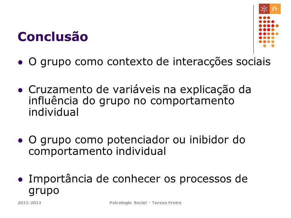Psicologia Social - Teresa Freire