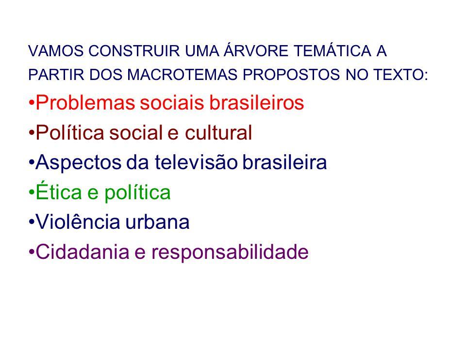 Problemas sociais brasileiros Política social e cultural