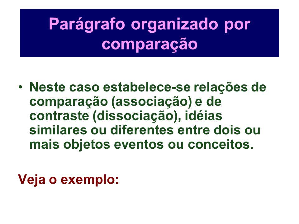 Parágrafo organizado por comparação