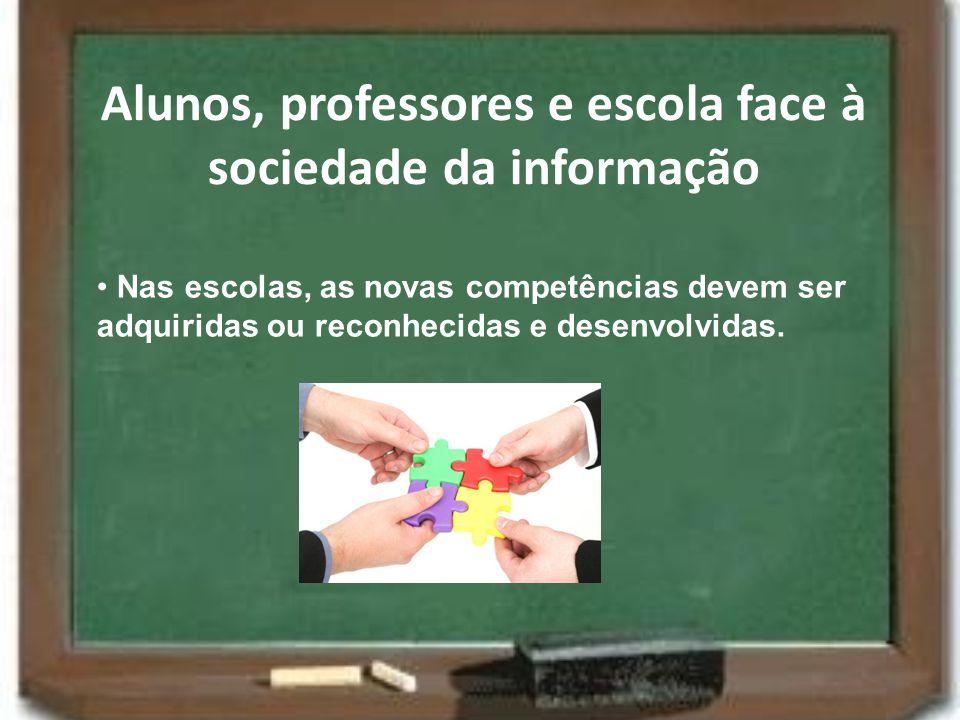 Alunos, professores e escola face à sociedade da informação