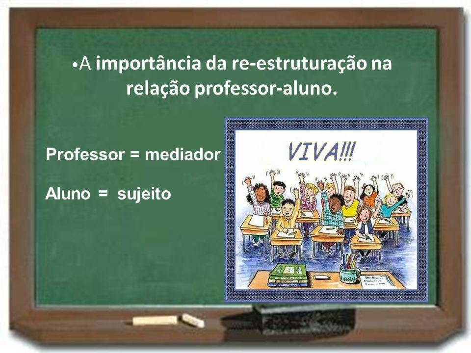 •A importância da re-estruturação na relação professor-aluno.